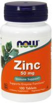 Zinc 50мг 100 табл Now Foods