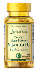 Puritan's Pride Vitamin D-3 1000 IU 100 softgels