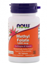 Now Foods Methyl Folate 1000 мcг 90  таб