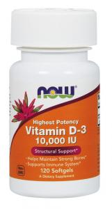 Vitamin D-3 10000 IU 120 капс Now Foods