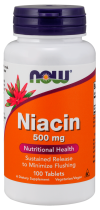 Niacin 500 мг 100 капс Now Foods