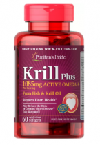 Puritan's Pride Krill Plus 60 капс