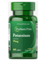 Puritan's Pride Potassium 99 мг 100 таб