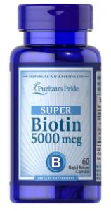 Puritan's Pride Biotin 5000 mcg 60 softgels