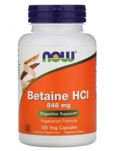 Now Foods Betaine HCL 648 mg 120 капс