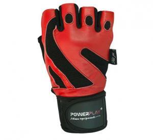 Перчатки MENS 1064-Е красные Power Play