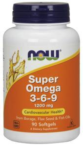 Super Omega 3-6-9 90 капс Now Foods