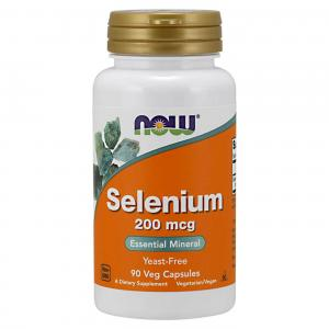 Selenium 200 90 капс Now Foods