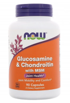 Now Foods Glucosamine & Chondroitin, MSM 90 капс