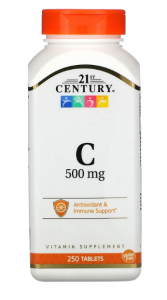 Vitamin C 500 mg 250 таб, 21 Century