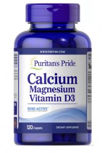 Puritan's Pride Calcium Magnesium plus Vitamin D 100 капс