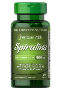 Puritan's Pride Spirulina 500mg 100 табл