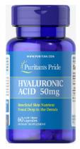 Puritan's Pride Hyaluronic Acid 50 mg 60 капс