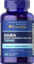 Gaba 750 мг 90 капс, Puritans Pride