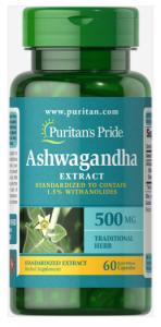 Puritan's Pride Ashwagandha  500 мг 60 капс
