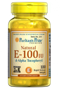 Puritan's Pride Vitamin E-100 IU  100 softgels
