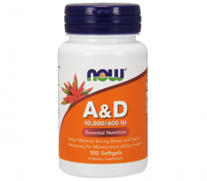 Now Foods A & D 10000/400IU 100 softgels