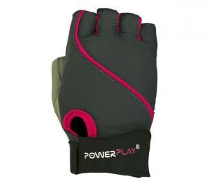 Перчатки WOMANS 1725 серо-розовые Power Play