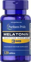 Puritan's Pride Melatonin 3 mg 120 табл