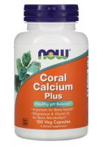 Now Foods Coral Calcium Plus  100  veg капс