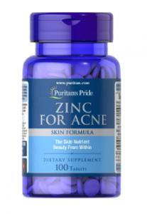 Puritan's Pride Zinc for Acne 100 табл