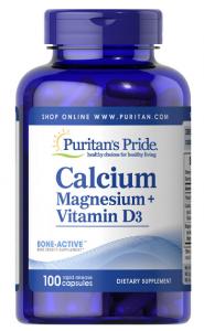 Puritan's Pride Calcium Magnesium plus Vitamin D 120 капл