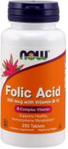 Folic Acid 250 таб Now Foods
